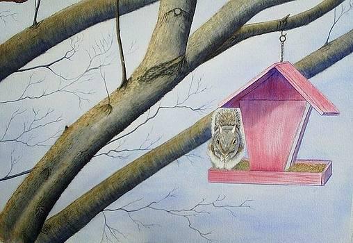 The Birdfeeer by Carol Oberg Riley
