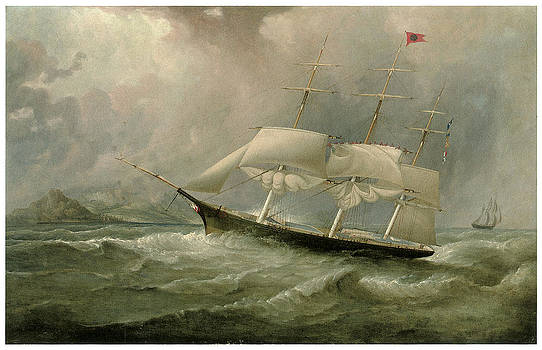 Attributed to Samuel Walters - The Black Ball Line Clipper Ship Ocean Chief