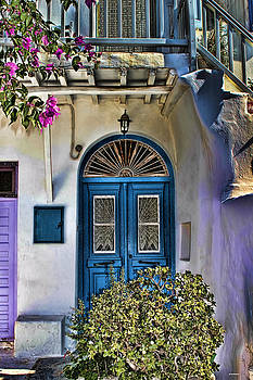 The Blue Door-Santorini by Tom Prendergast