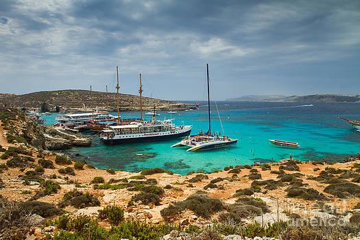 The Blue Lagoon Comino Malta by Gabor Pozsgai