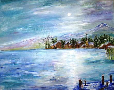 The Blue Lake by Doris Cohen