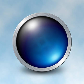 The Blue Orb by Photo Shirts