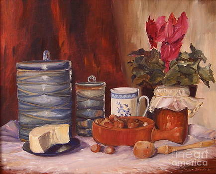 The blue pots by Beatrice Cloake