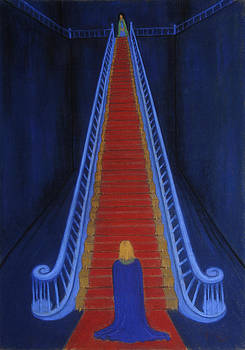 The blue stairway by Paul Daly