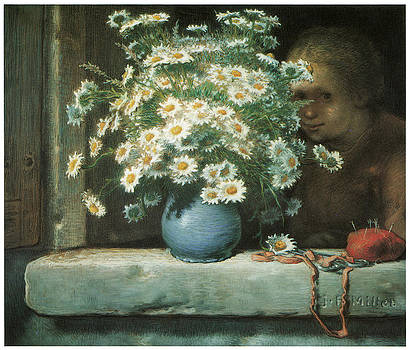 Jean-Francois Millet - The Bouquet of Daisies