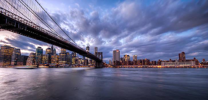 The Brooklyn Bridge From Brooklyn Bridge Park by Ramon Nuez