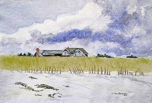 The Brown House on East Beach by Joan Hartenstein