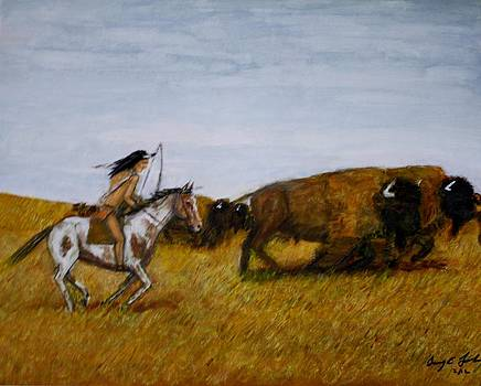 Larry E Lamb - The buffalo hunter.