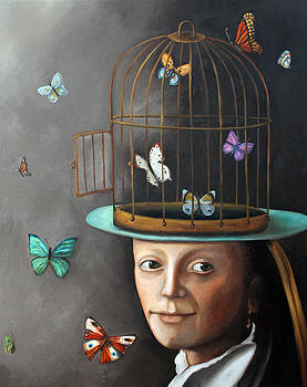 Leah Saulnier The Painting Maniac - The Butterfly Keeper 1