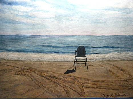 The Calm After The Storn-Laguna Beach by Nancy L Jolicoeur