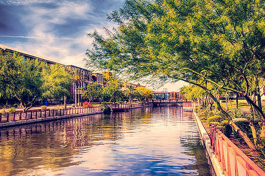 The Canal in Downtown Scottsdale by Fred Larson