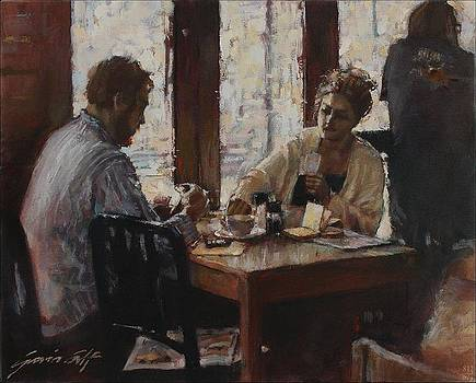 The Card Game at Olympia Cafe by Gavin Calf