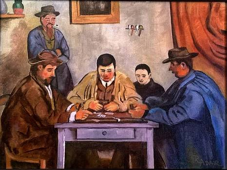 The Card Players by Cezanne-R Adair