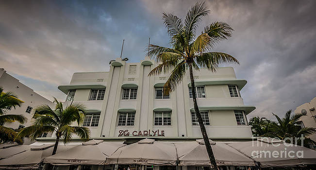 Ian Monk - The Carlyle South Beach Miami Panoramic - Art Deco District - HDR Style