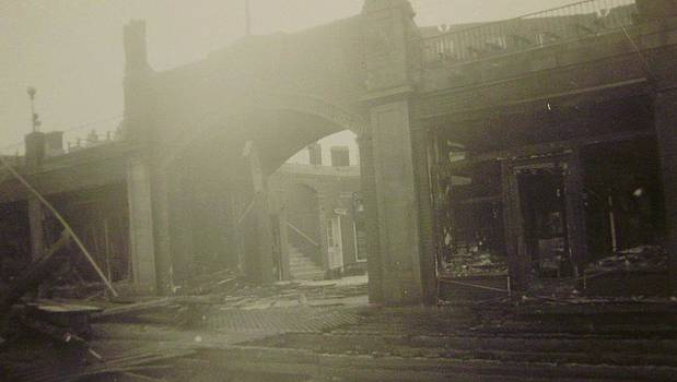 The Casino Asbury Park NJ After Fire by Joann Renner