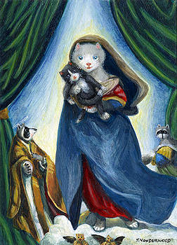The Cat Madonna and Kitten by Jacquelin Vanderwood