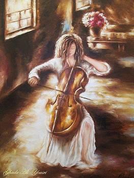 The Cellist  by Ghada Ali yousri