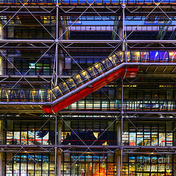 The Centre Pompidou II-Paris by Lilianna Sokolowska