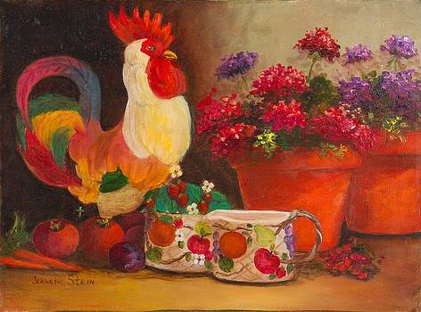 The Ceramic Rooster by Jeanene Stein