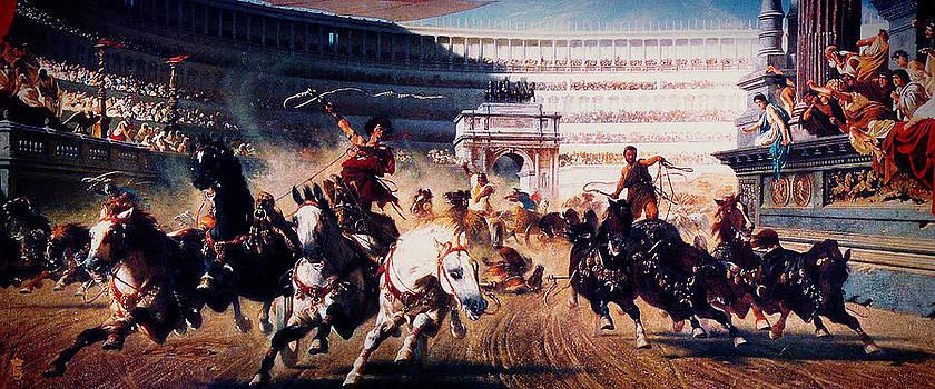 The Chariot Race 1882 by Li   van Saathoff