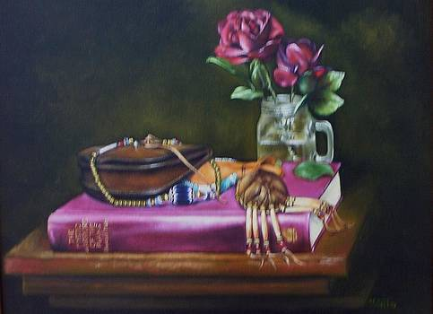 The Chevron with Roses by Mahto Hogue