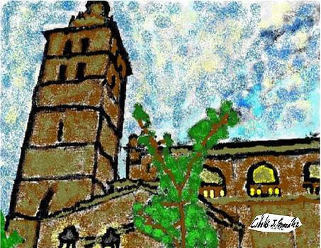 The Church In Inca by Cibeles Gonzalez