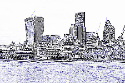 David French - The City of London skyline lines