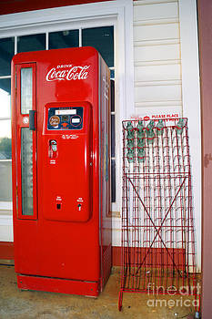 The Coca Cola Machine and Bottle Rack outside Billy Carters Service Station in Plains Georgia by Kim Pate