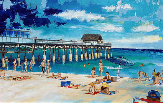 The Cocoa Beach Pier by Robert Busse