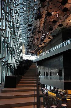 The Concert Hall Interior Reykjavik by Derek Sherwin