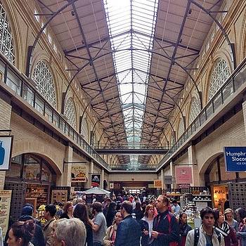The Crowds At Ferry Building On Sunday by Karen Winokan