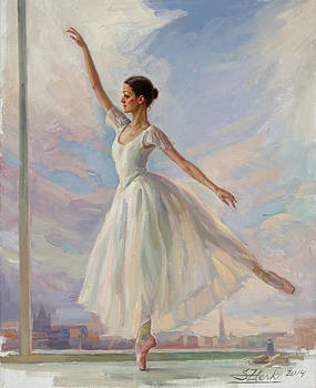 The Dancer in White by Serguei Zlenko