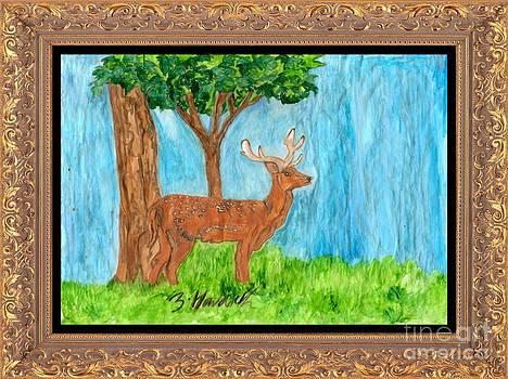 The Deer  Looks On by Sylvia Howarth