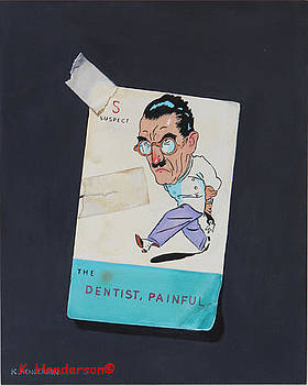 The Dentist Vintage playing card by K Henderson by K Henderson