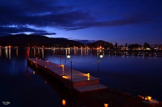 Guy Hoffman - The Dock at Night- Skaha Lake 02-21-2014