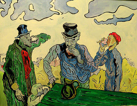 The Drinkers after Van Gogh by Michael Jadach