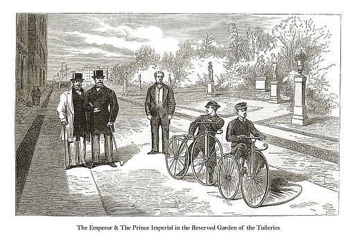 London Illustrated News - The Emperor and The Prince Imperial in the Reserved Garden of the Tuileries