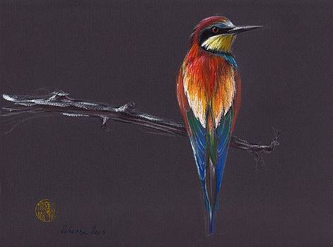 The European - Painting of a European Bee Eater Bird by Rebecca Rees