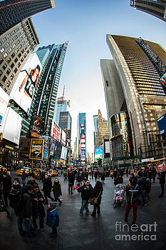 The Ever-Busy Time Square by Daniel Portalatin Photography