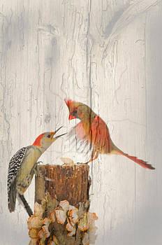 Randall Branham - The Fight Painted on wood grain