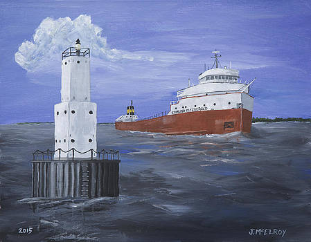 The Fitz Departs Escanaba by Jerry McElroy