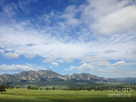 Kate Avery - The Flatirons in Spring