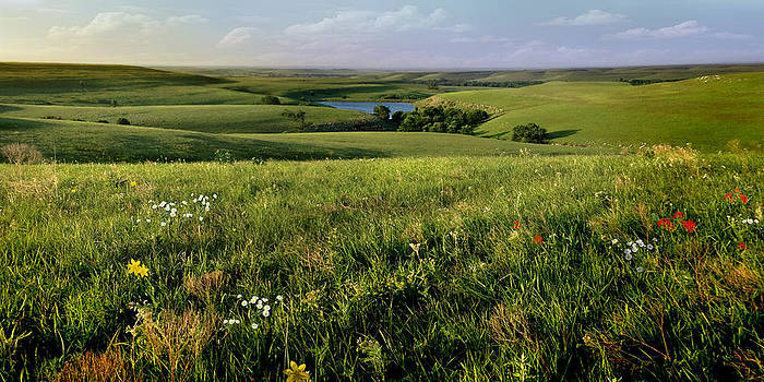 The Kansas Flint Hills from Rosalia Ranch by Rod Seel