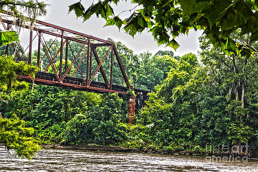 The Flint River Trestle Downtown Albany GA by Kim Pate