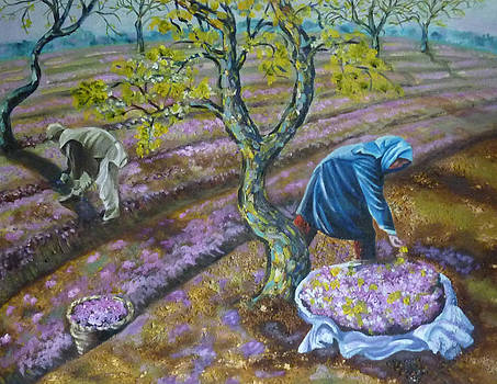 The Flower Gatherers by Patricia Frankel