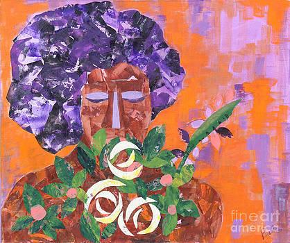 The flower girl by Paula Drysdale Frazell
