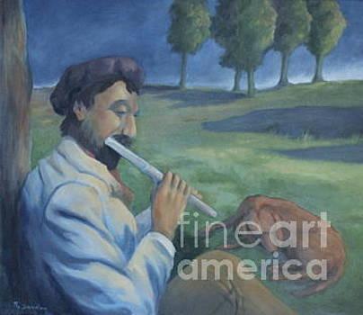 The Flute Player by Noel Sandino
