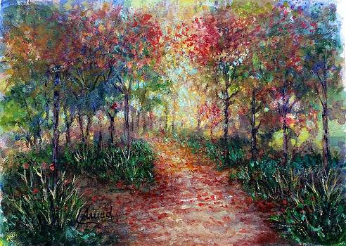 The forest at Falltime by Laila Awad Jamaleldin