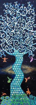 The Galactic Tree Of Life Part 2  by Heriberto  Luna