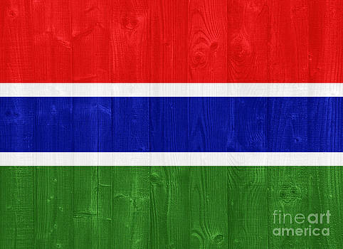 The Gambia flag by Luis Alvarenga